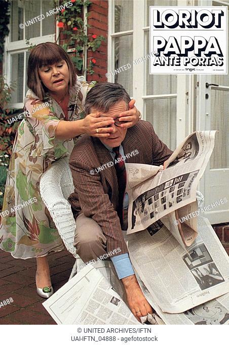 Pappa ante portas, aka: Loriots Pappa ante portas, Deutschland 1991, Regie: Vicco von Bülow, Darsteller: Vicco von Bülow, Ortrud Beginnen