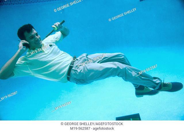 underwater golfer on cellular