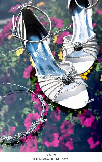 Matching high heels and headband