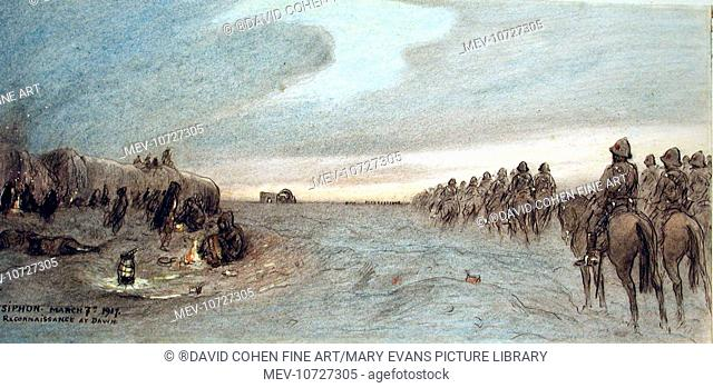 Reconaissance at Dawn - Ctesiphon, March 7th 1917. C. F. Lock, D Squadron, Hertfordshire Yeomanry (Fl. 1928-1933)