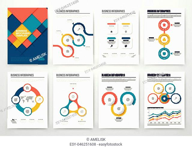 Modern infographic vector concept. Business graphics brochures. Used for workflow layout, diagram, number options, step up options, web template, infographics