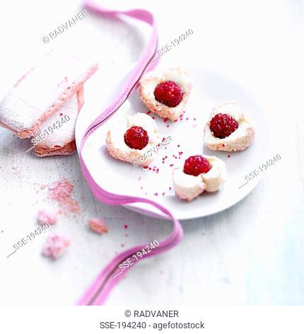 Raspberry pink cookies