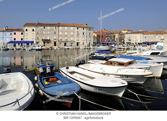Port of the town of Cres, Croatia, Europe