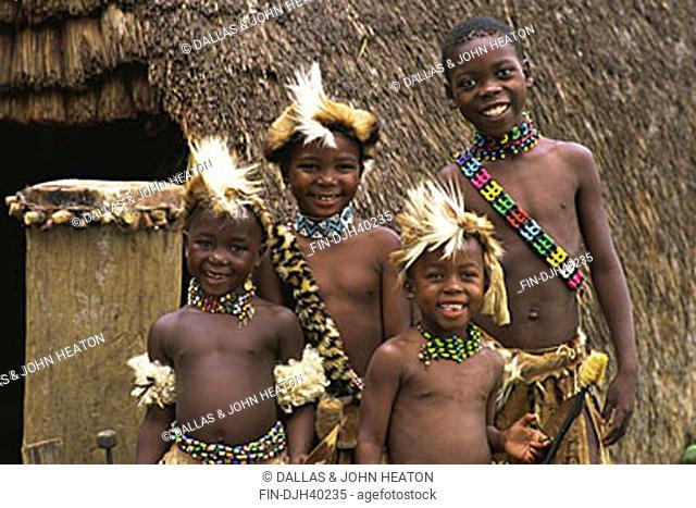 South Africa, Phe-Zulu, Zulu Children