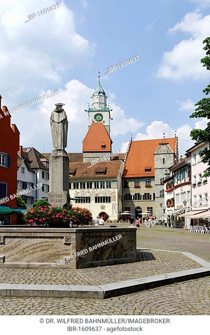 St. Nikolaus Munster, Ueberlingen on Lake Constance, Baden-Wuerttemberg, Germany, Europe