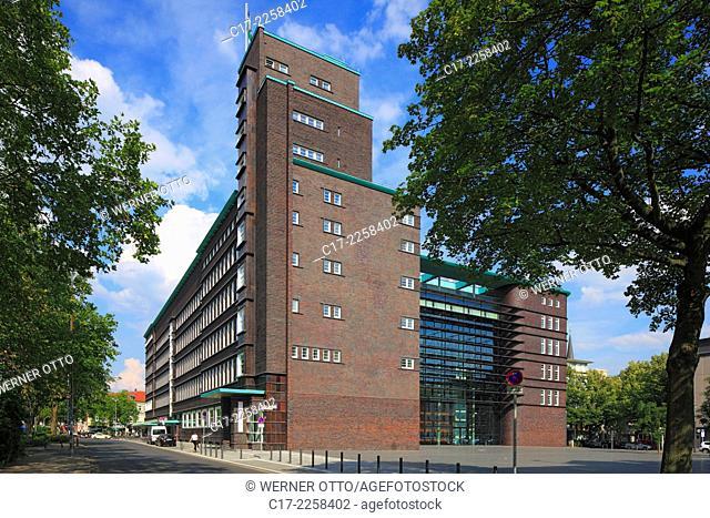 Germany, Gelsenkirchen, Ruhr area, North Rhine-Westphalia, NRW, Hans Sachs House by Alfred Fischer, Alfred Fischer Square, city hall, city administration