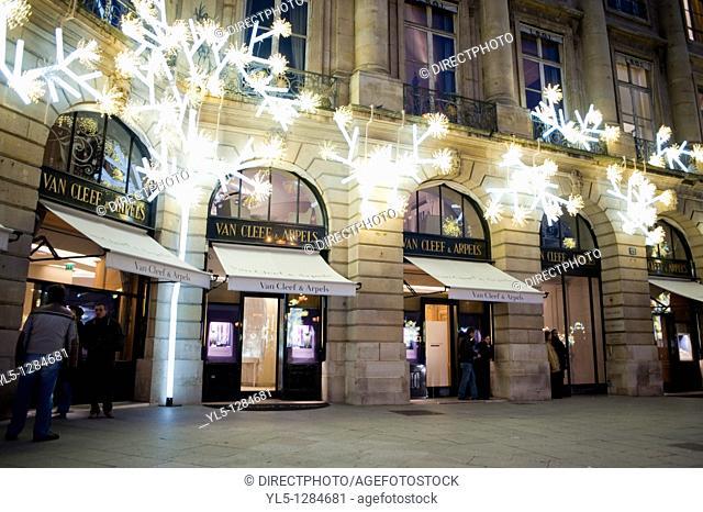 Paris, France, Luxury Christmas Shopping, Place Vendome
