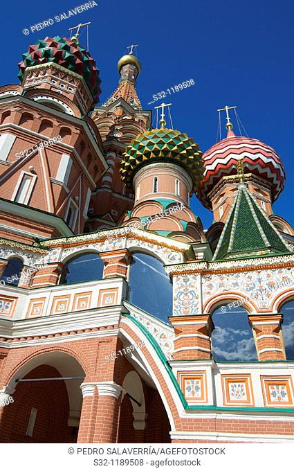 St  Basil's Cathedral in Moscow on red square, Russia