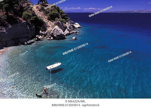 Vrellos Beach, Spetses, Saronic Gulf, Greece