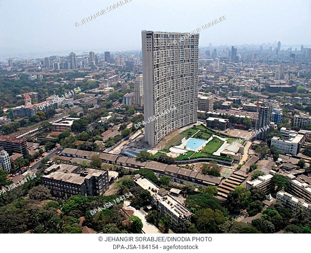 aerial view of jacob circle at mumbai maharashtra India