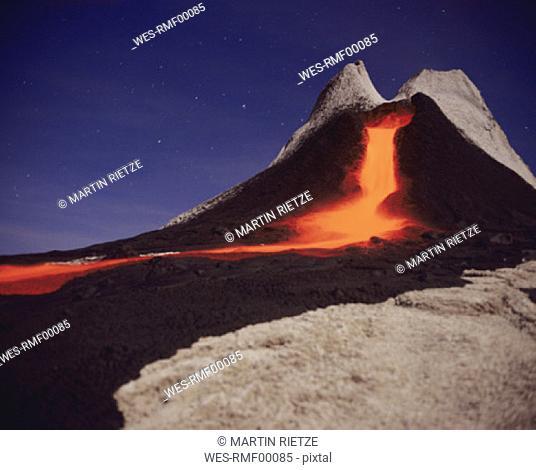 Volcano ol doinyo Lengai, Tanzania