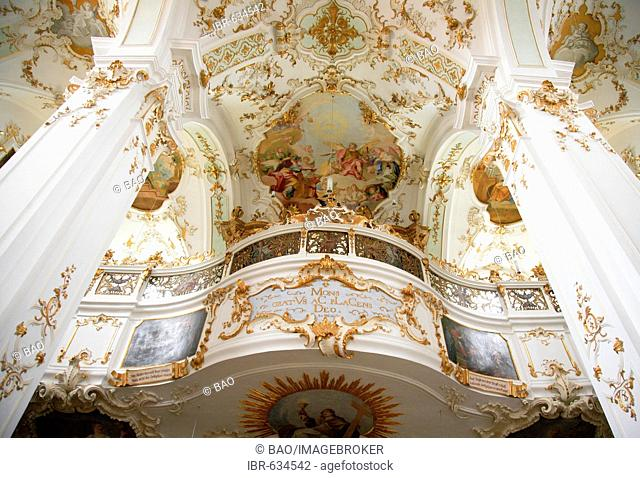 Interior, Andechs Abbey, Bavaria, Germany, Europe