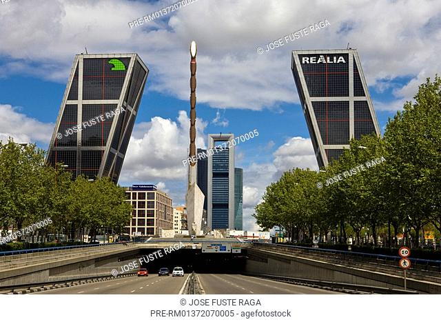 Kyo Towers at the Castellana Avenue, Madrid City, Spain, Europe