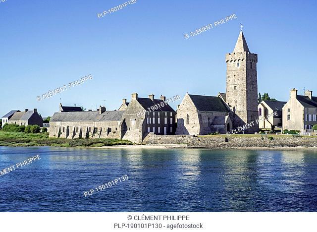 Église Notre-Dame church at the village Portbail / Port-Bail, Manche, Normandy, France