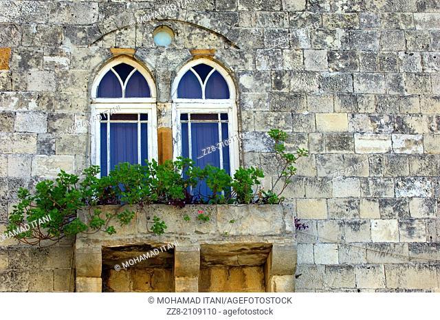 old windows in Deir Al Qamar