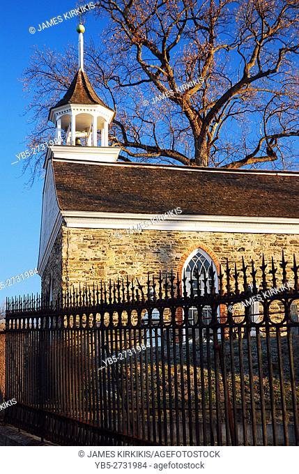 Old Dutch Church in Sleepy Hollow Features Prominantly in Washington Irving's Story