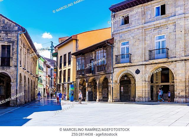 Street arcades. Avilés, Principality of Asturias, Spain, Europe