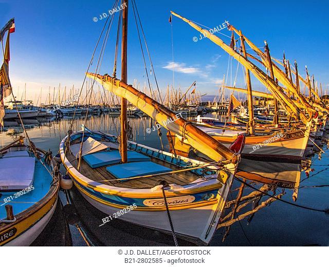 Freance-Paca-Cote d'Azur, traditional fishing boats at Bandol