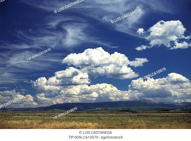 USA, Wyoming, Jackson Hole, Landscape with clouds