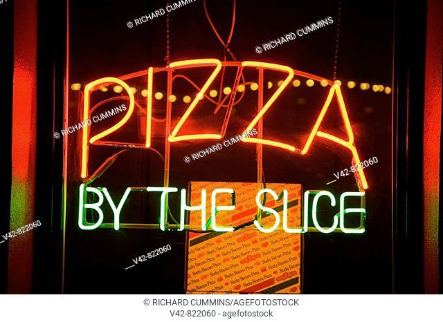 Restaurant sign, Spokane, Washington State, USA