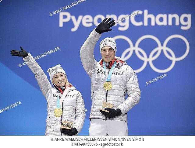 Aljona SAVCHENKO/ Bruno MASSOT, Germany, 1.Platz, Sieger, Olympiasieger, Olympiasiegerin, .1. Platz, Goldmedaillengewinner, Gold, Goldmedaille, Olympiasieger