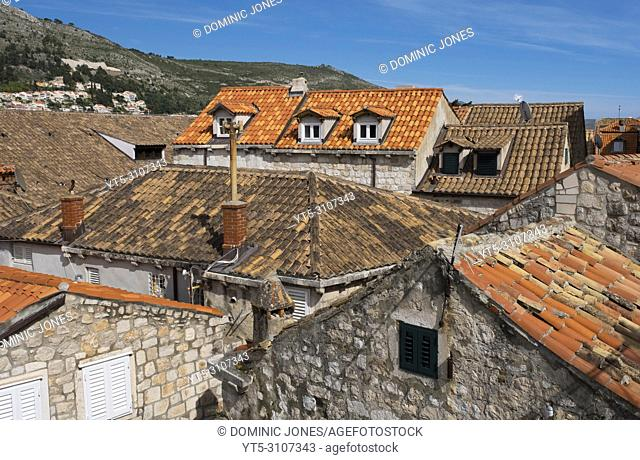 The rooftops of Dubrovnik's Old Town, Dubrovnik, Croatia, Europe