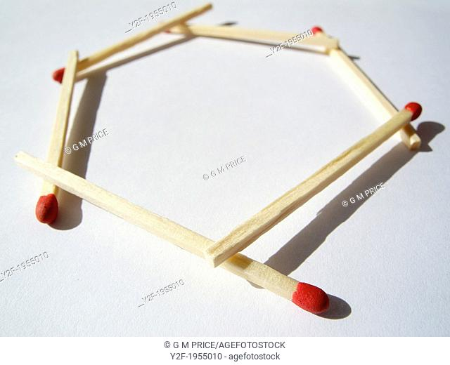 matches linked into hexagon