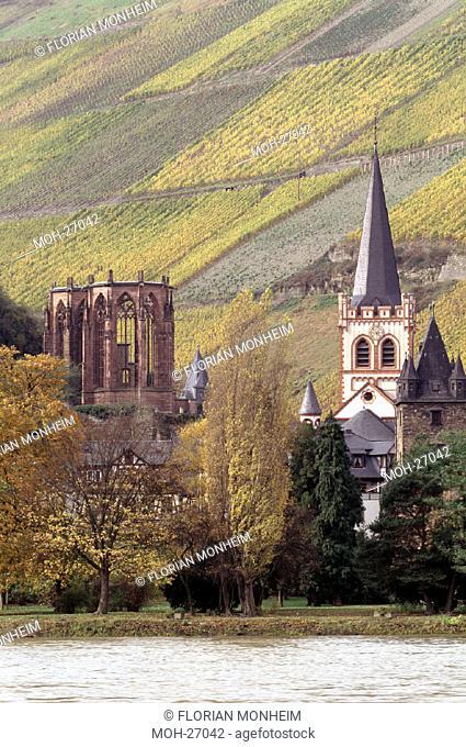 Bacharach, Wernerkapelle und Pfarrkirche
