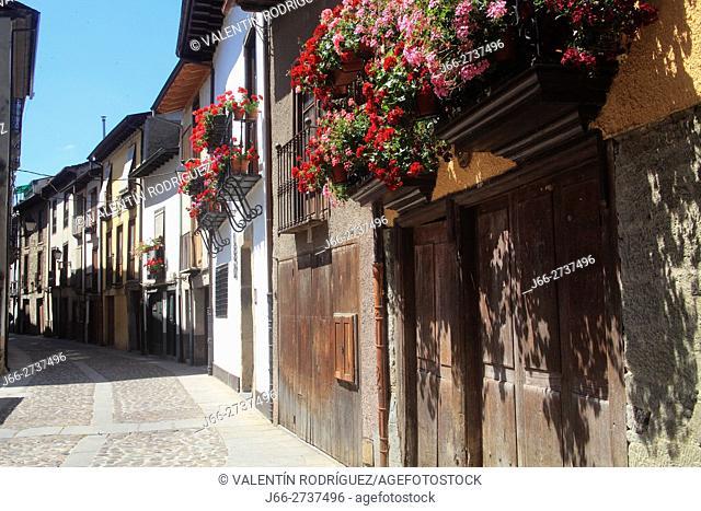 Water street in Villafranca del Bierzo. León