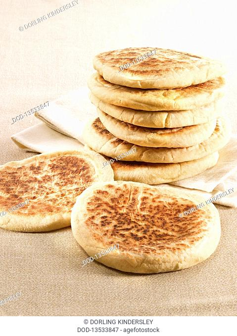 Stack of flat breads, close-up