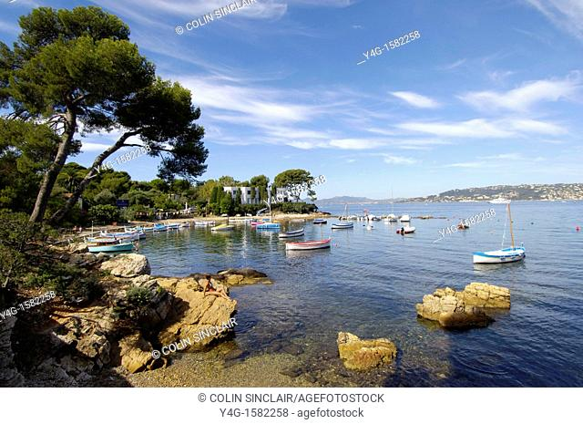 Cap d'Antibes, small harbour, French Riviera