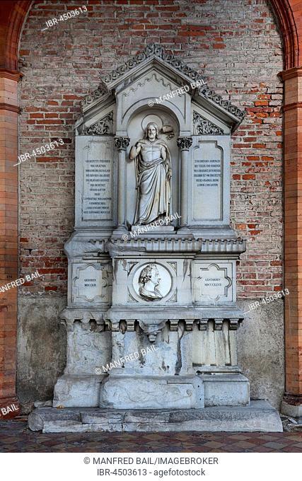 Tomb of Friedrich Wilhelm von Gärtner, architect, 1791-1847, Südfriedhof, Munich, Bavaria, Germany