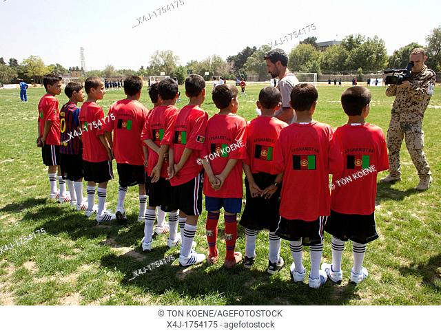 The German army organised a mini world cup tournament in Kabul for Afghan children  The teams played against each other, Turkey won the mini world cup