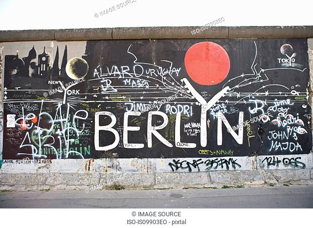 Graffiti on Berlin Wall, Berlin, Germany