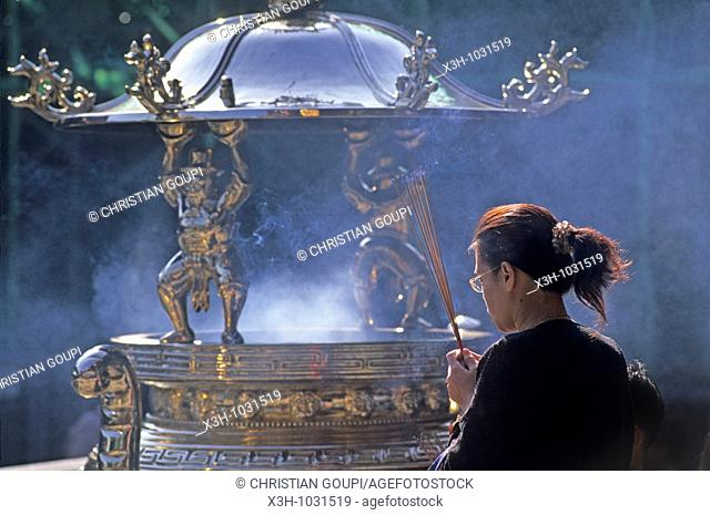 Lungshan Temple, devoted to worshiping Guanyin, Goddess of Mercy,Taipei,Taiwan also known as Formosa,Republic of China, East Asia