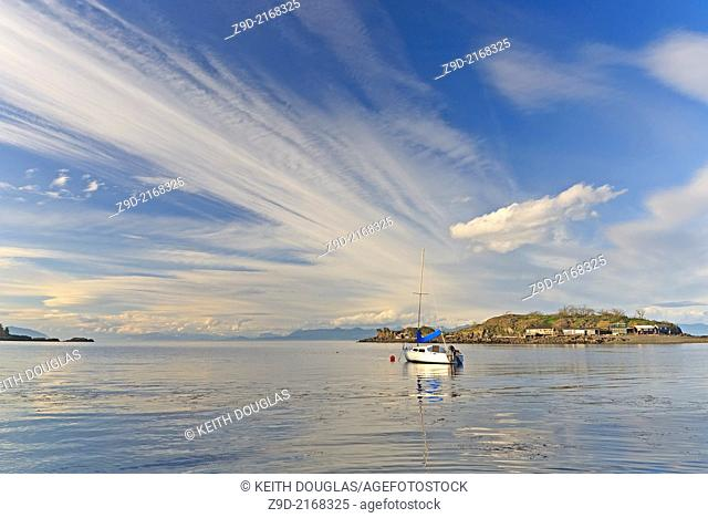 View across Hammond Bay towards Shack Island, Pipers Lagoon Park, North Nanaimo, Vancouver Island, BC