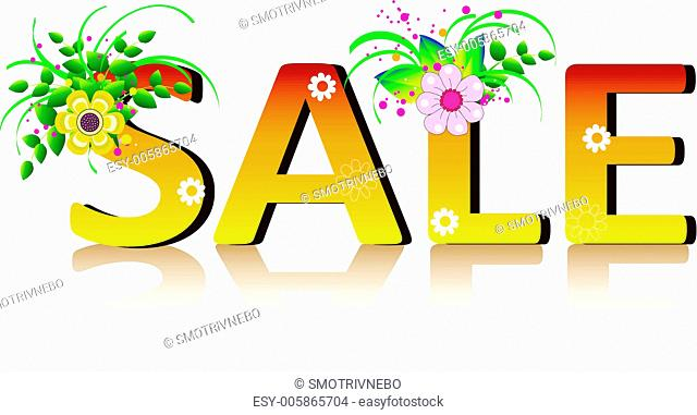 Vector sale poster design template