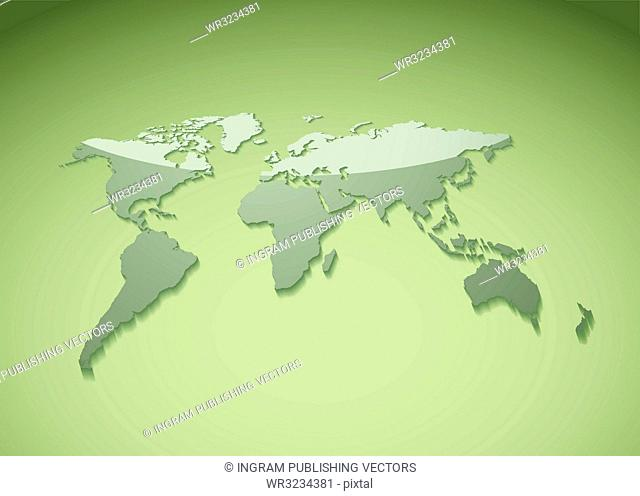 Green world background ideal template for presenatation