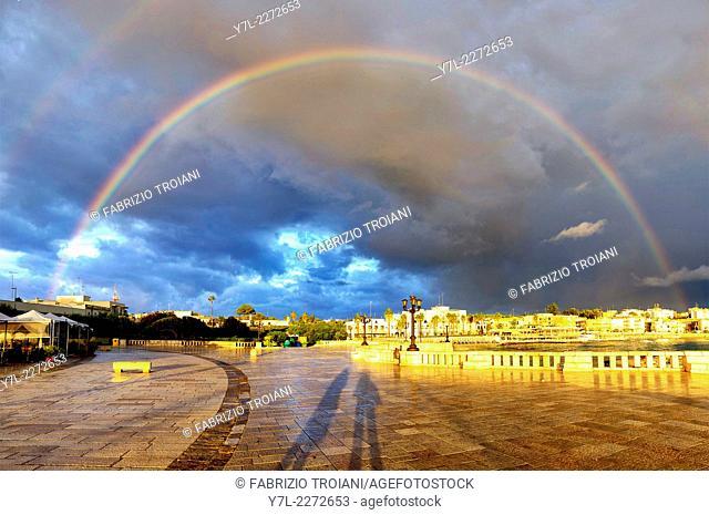 Rainbow over Otranto, Italy