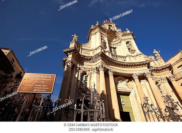 Collegiata S. Maria dell' Elemosina, Catania, Sicily, Italy, Europe