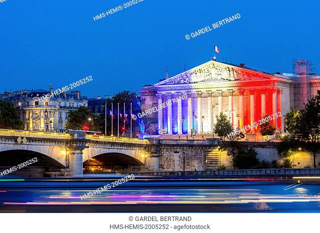France, Paris, area listed as World Heritage by UNESCO, the National Assembly