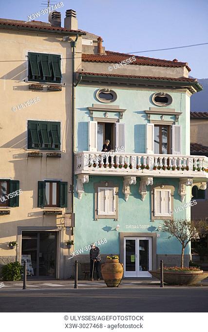 Marciana Marina village, Elba island, Tuscany, Italy, Europe