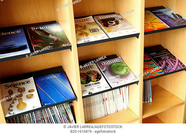 Science Journals, Rest area, CIC nanoGUNE, Nanoscience Cooperative Research Center, San Sebastian, Donostia, Gipuzkoa, Basque Country, Spain
