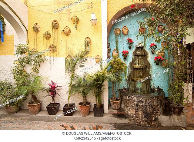 Fountain in a courtyard in San Miguel de Allende, Mexico
