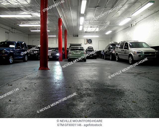 Indoor car park in New York