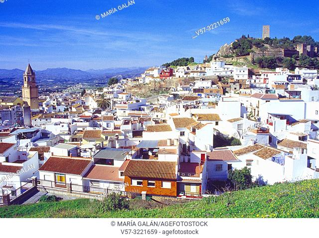 Overview. Velez-Malaga, Malaga province, Andalucia, Spain