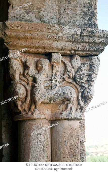 Tiermes Romanesque chapel (Soria). In the Celtiberian Archaeological Site. Castilla-León. Spain
