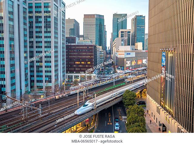 Japan, Tokyo City, Marunouchi distric, Yurakucho, Bullet Train
