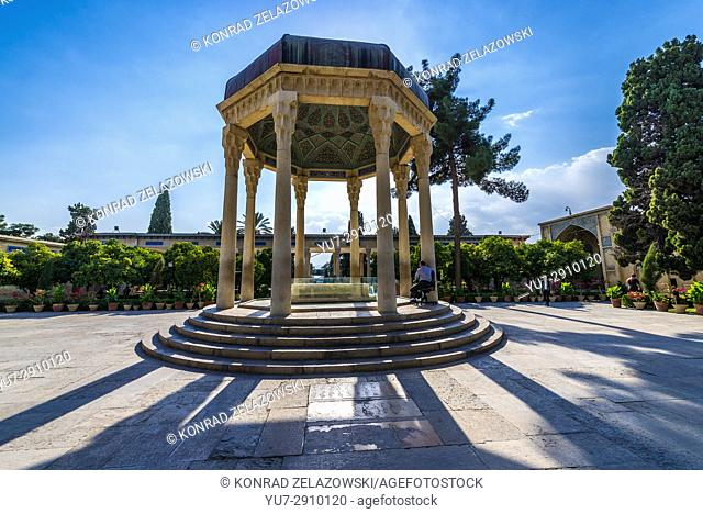 Pavilion over Tomb of Hafez memorial hall called Hafezieh in Shiraz city, capital of Fars Province in Iran