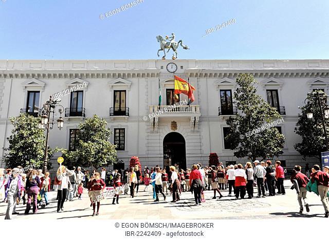City Hall of Granada, Ayuntamiento, Barrio San Matias-Realejo, Plaza del Carmen, Granada, Andalucia, Spain, Europe